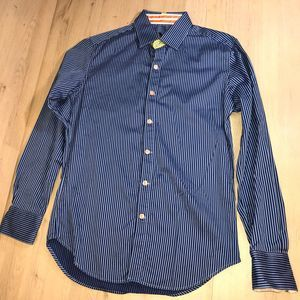 Robert Graham Blue striped button down S